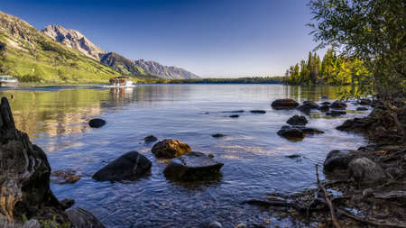 jenny: Boaters enjoying the serene waters of Jenny Lake in Grand Teton National Park, WY