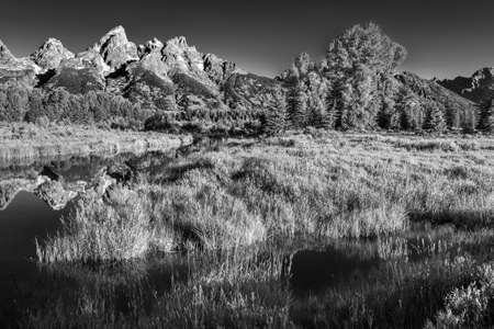 The Snake River Winding through Schwabacher Landing in Grand Teton National Park, WY photo