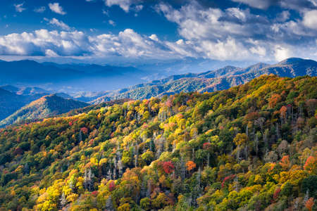 hiway: Autumn color in the mountains and hills of Great Smoky Mountains National Park