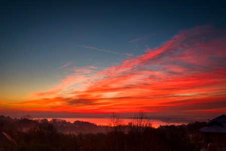 Vivid Texas winter sunrise Stock Photo
