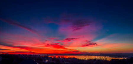 winter sunrise: Vivid Texas winter sunrise Stock Photo