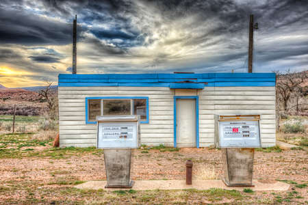 Abandoned Gas Station near the Ghost Town of Cisco, Utah photo
