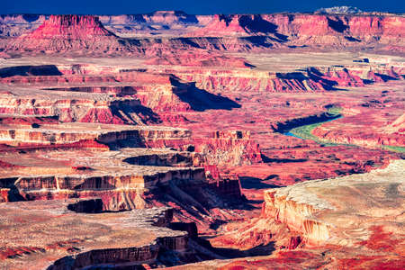 canyonland: Layered red cliffs and canyons near Moab, Utah
