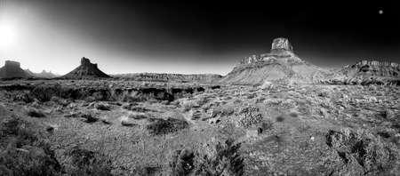 Utah desert panorama just after dawn