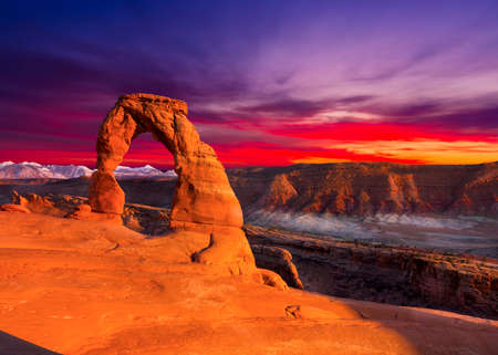 arches national park: Delicate Arch, Late Afternoon View, Arches National Park, Utah