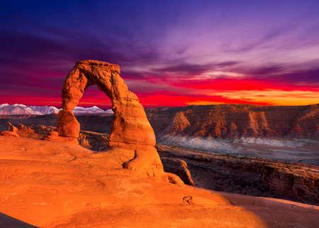 Delicate Arch, Tarde View, Parque Nacional Arches, Utah