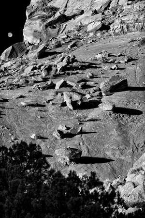nm: Stark view of rocky terrain near Abiquiu, NM