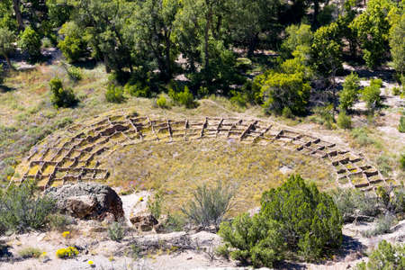 pueblo: Tyuonyi Pueblo in Frijoles Canyon