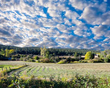 Idyllic farmland scene on the High Road to Taos, NM