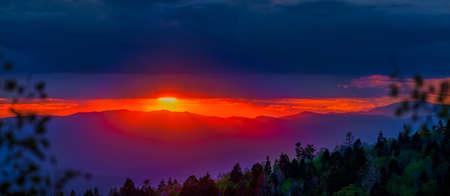 basin mountain: New Mexico mountain sunset  featuring splashes of autumn color in the foreground