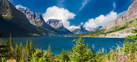 Stunningly beautiful St. Mary Lake in Glacier National Park, Montana