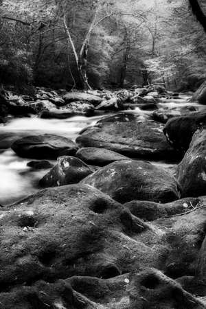 smoky: Silky stream captured in the Smoky Mountains during springtime Stock Photo