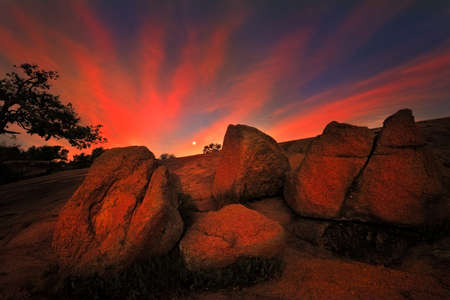 Stunning autumn sunrise in the Texas Hill Country