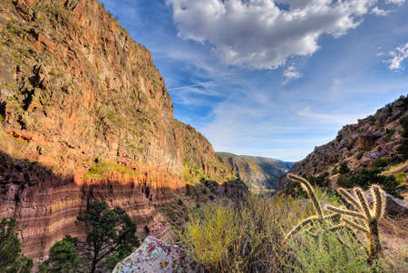stratified: Late afternoon in Frijoles Canyon, NM