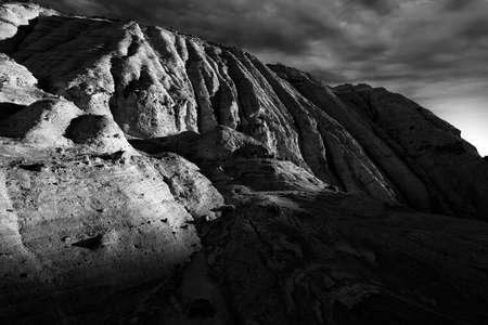 nm: Dramatic sunrise as seen from a canyon near Cochiti, NM
