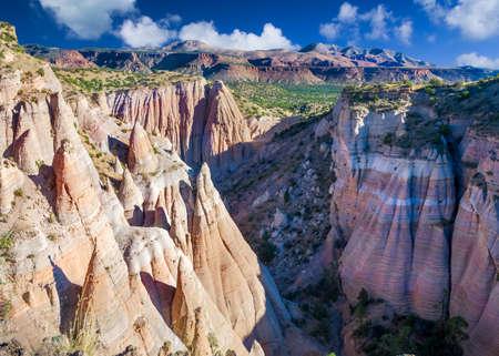 kasha: Dramatic view of Tent Rocks Canyon from a bluff near Cochiti, NM