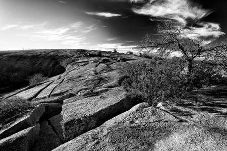 テキサスの丘の国で魅惑のロックの頂上付近の見事な眺め 写真素材