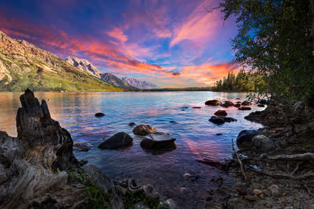 jenny: Serene summer morning on Jenny Lake in Grand Teton National Park, WY