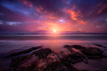 Stunning sunrise on Floridas east coast