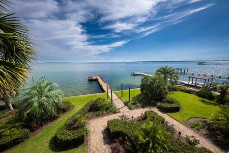 Beautifully manicured beachfront yard on Floridas Emerald Coast