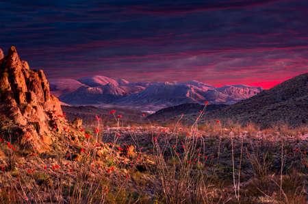 Dramatic Terlingua Sunset Reklamní fotografie