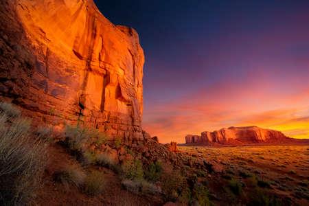 Spectacular Sunrise in Monument Valley Reklamní fotografie