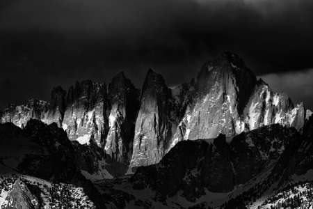 Mt. Whitney at Sunrise in the Eastern Sierras