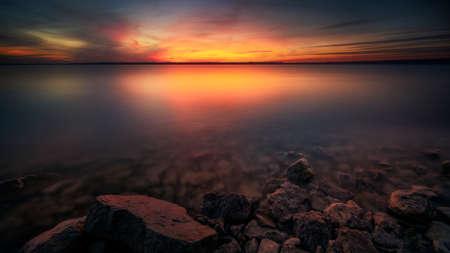 Benbrook Lake Sunset, Long Exposure