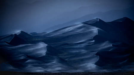 Stormy Blue Hour in the Colorado Sand Dunes