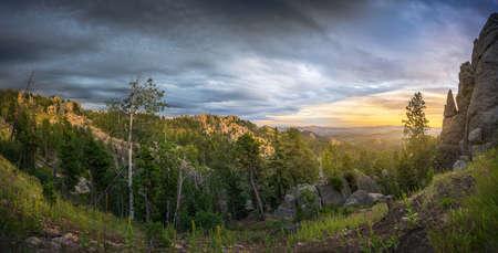 Stunning Sunrise at Needles Highway Scenic Overlook