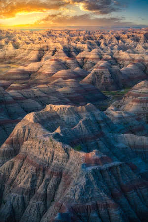 Rock Formations in the South Dakota Badlands 版權商用圖片