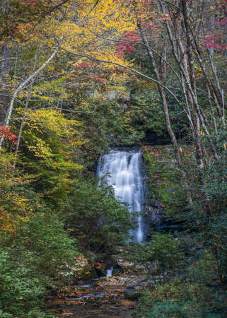 Meigs Falls Surrounded by Fall Foliage