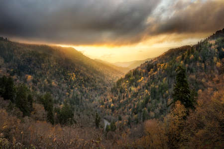 Sunset at Morton Overlook in the Smoky Mountains