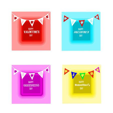 Set design of flat design valentine day banner Standard-Bild - 139649126
