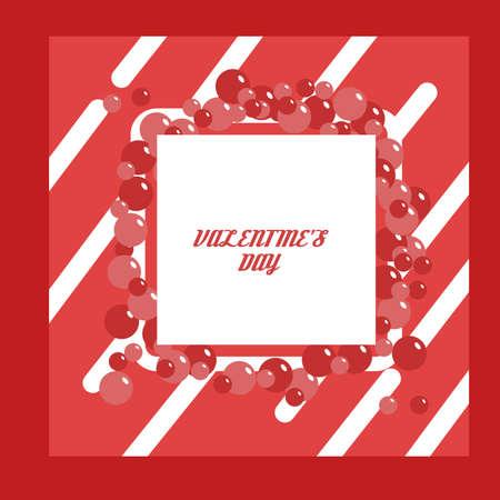 Flat design valentine's day banner Standard-Bild - 139649237