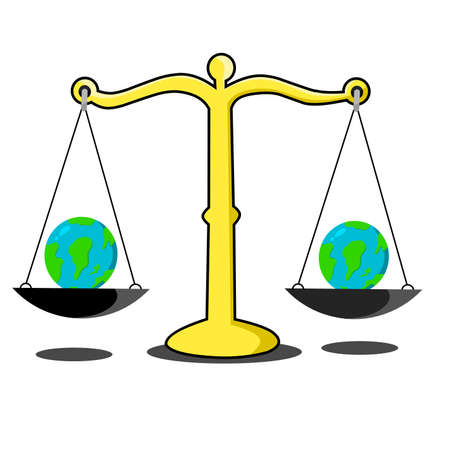Simple design of illustration Earth's balance