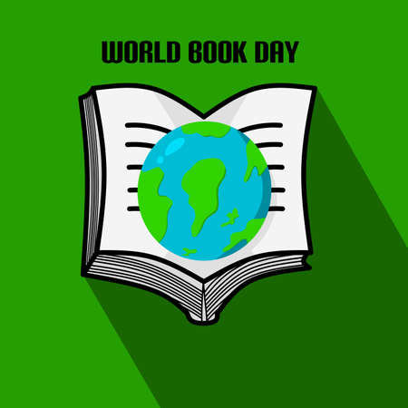 Simple design of illustration world book day