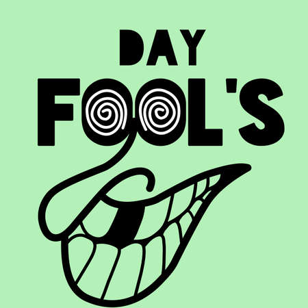 April fool's day background vector