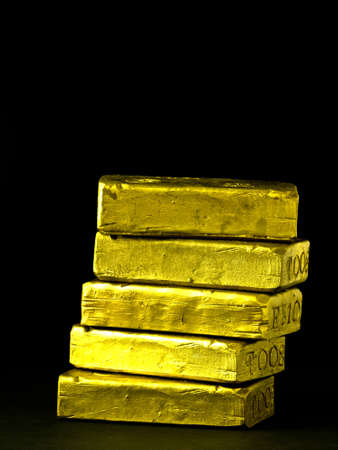 Stack of gold bars Stock Photo