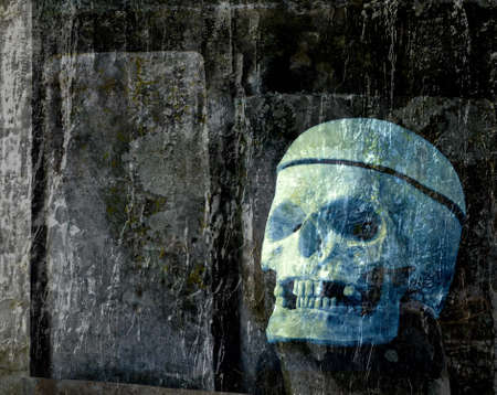 Halloween Spooky Ghost Skull Background Stock Photo - 14718657
