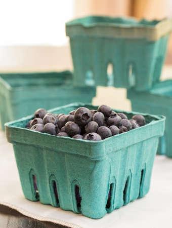 Fresh picked blueberries Imagens