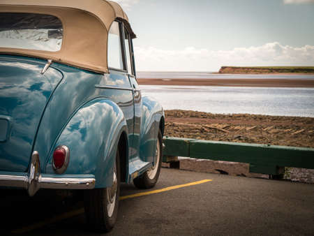 vintage: Classic Car at the Shoreline