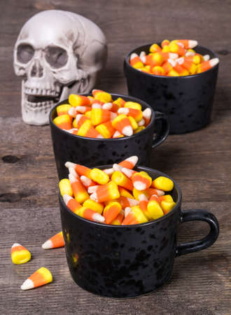 Halloween Candy Corn Buffet Stock fotó