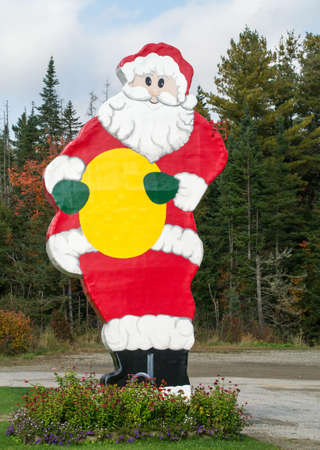 larger than life: Giant Santa Claus Sign