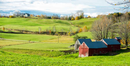 Rolling hillside of Vermont Farm land