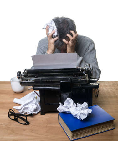Frustrated Writer Stock Photo - 15921095