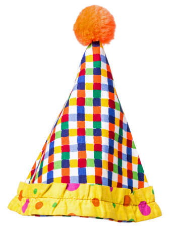 Circus Clown Hat isolated over white background Stock fotó
