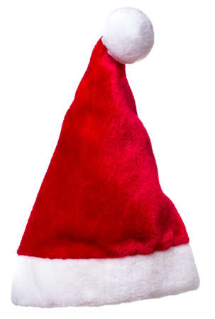 Santa Claus Hat isolated over white background Stock fotó