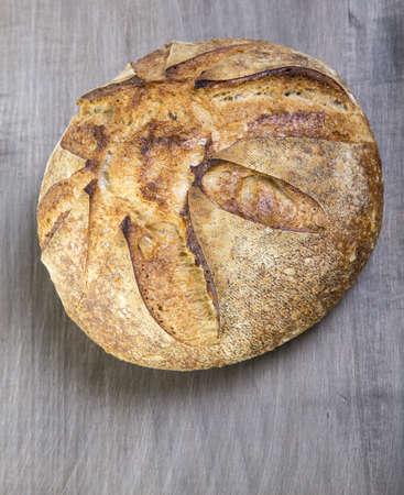 Fresh baked crusty artisan bread