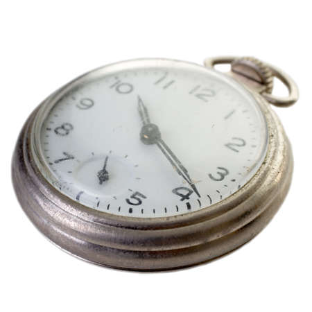 Close up of an old pocket watch over white Stock fotó